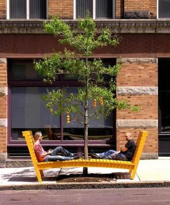 Merit Award: Orange Tree Bench | Jeffrey P. Heyne Architecture
